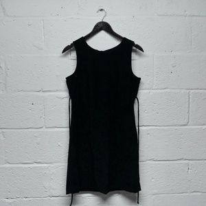 SALE Vintage 90's Black Velvet Mini Dress